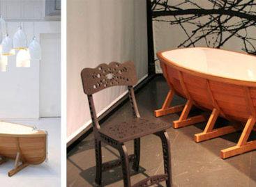 Thiết kế sáng tạo của bồn tắm bằng gỗ