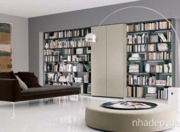 Ý tưởng thư viện cho không gian hẹp