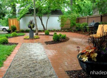 Ý tưởng thiết kế đường mòn nhỏ lát sỏi trong vườn