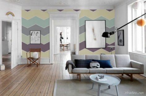 Mang hơi thở mùa hè vào nhà với tranh tường màu pastel tươi sáng