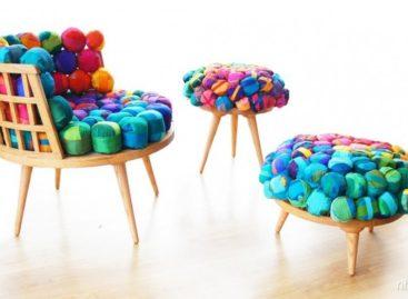 Bộ sưu tập ghế màu sắc từ vải vụn của nhà thiết kế Meb Rure