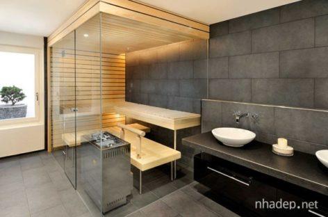 Phòng tắm hơi chuyên dụng hiện đại trong nhà