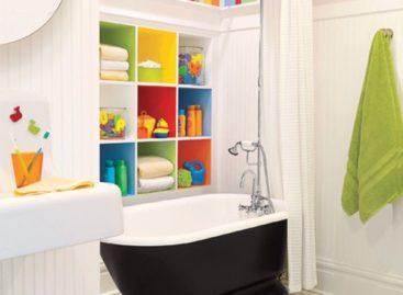 30 ý tưởng thiết kế phòng tắm tinh nghịch và nhiều màu sắc cho trẻ em