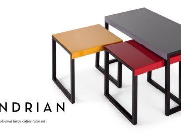 Bộ bàn cà phê Mondrian màu sắc