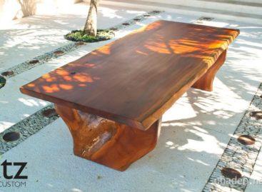 Thiết kế đẹp mắt của chiếc bàn làm từ gỗ tự nhiên Zapote