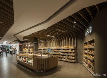 Độc đáo với các thiết kế gỗ uốn lượn đẹp mắt của siêu thị Spar