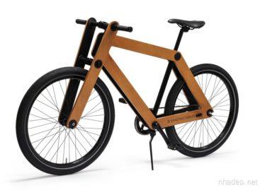 Đơn giản và gọn nhẹ với xe đạp gỗ Sandwichbike