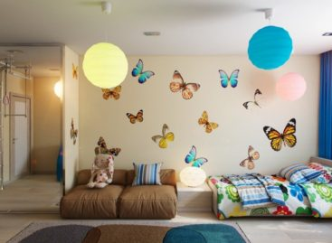 Sử dụng màu sắc cho căn phòng của bé