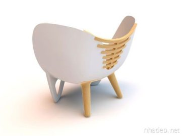 Thiết kế ghế độc đáo kết hợp giữa chất liệu nhựa và gỗ