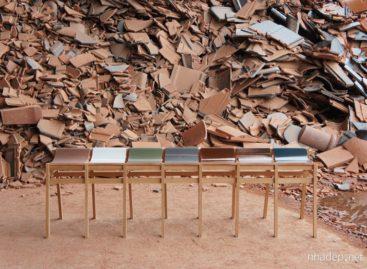 Chiếc ghế độc đáo được làm từ những viên gạch ngói