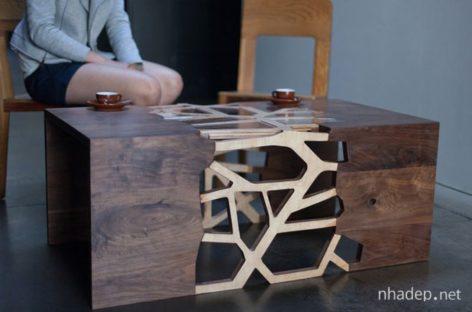 Chiếc bàn cà phê thiết kế độc đáo mang hình nhánh cây