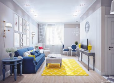 Trang trí nhà nổi bật với tông màu vàng và xanh