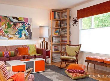Thiết kế phòng khách theo phong cách retro (Phần 1)