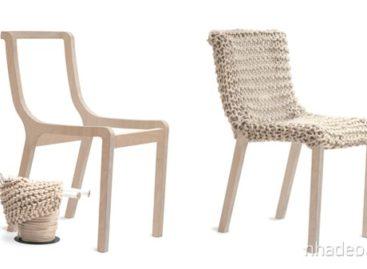 Ghế Granny từ vật liệu len mềm mại