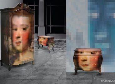 Kết hợp độc đáo giữa đồ gỗ nội thất với công nghệ ảnh hiện đại