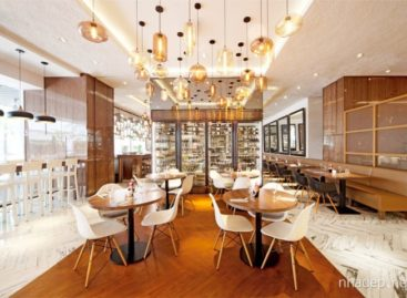 Thiết kế nhà hàng với không gian rộng rãi và tươi sáng