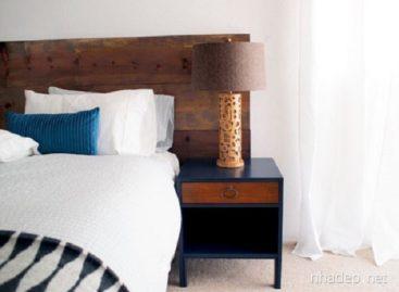 Ấn tượng với những chiếc bàn đầu giường tự chế