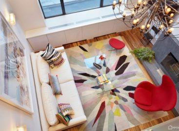 Không gian hài hòa màu sắc của căn hộ hiện đại ở Manhattan