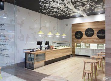 Không gian sang trọng của cửa hàng yogurt