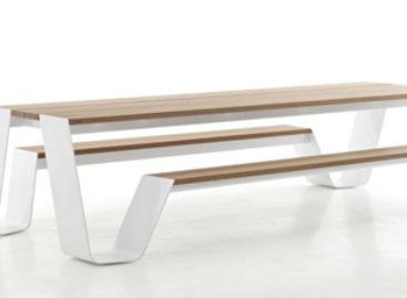 Mẫu thiết kế đầy sáng tạo kết hợp bàn và ghế cho không gian ngoại thất