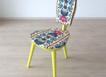 Chiếc ghế Photoliu thanh lịch và nổi bật với hoa văn lạ mắt