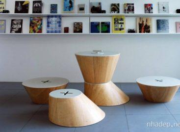 Bộ bàn ghế hình nón độc đáo của công ty Nuno Capa