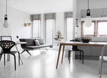 Xu hướng hiện đại cùng sắc đen – trắng trong căn hộ nhỏ Domo Nomad tại Poznan