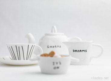 Tạo hình mỹ thuật trong bộ đồ ăn bằng gốm sứ của David Shrigley