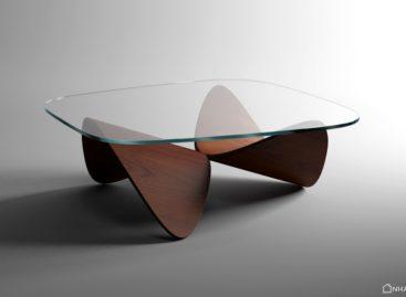 Chiếc bàn sofa làm từ gỗ sồi của nhà thiết kế Sandro Lopez