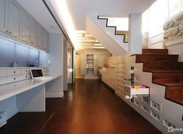 Chuyển đổi không gian tầng hầm thành văn phòng tại gia hiện đại