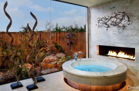 Mang không gian thư giãn vào nhà với bồn tắm nước nóng tại gia