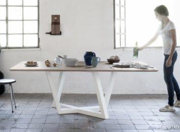 Lạ mắt với chân bàn hình thang trong thiết kế bàn Dedalo