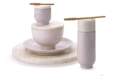 Bộ sản phẩm gốm được sản xuất bằng kỹ thuật truyền thống của Ấn Độ