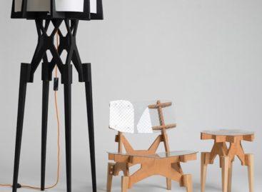 Bộ bàn ghế Electron và Lese độc đáo bởi thiết kế lắp ghép thuần túy