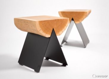 Ấn tượng với chiếc ghế làm từ nửa thân cây
