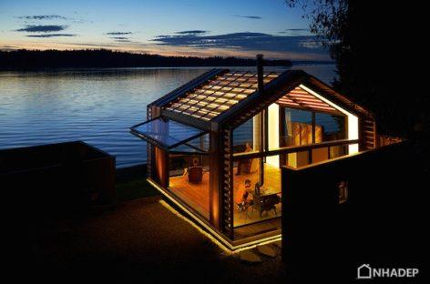 Khung cảnh lãng mạn của nhà nghỉ bên hồ cải tạo từ garage xe