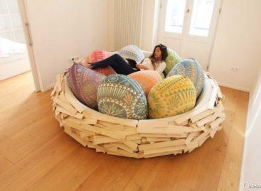 Nét độc đáo của chiếc giường hình tổ chim