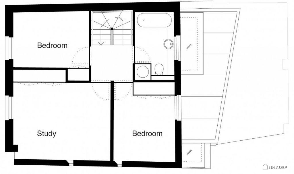 Thiet-ke-dep-mat-cua-ngoi-nha-Mews House Primrose Hill_22
