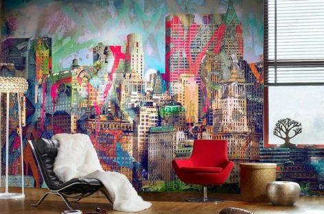 Thổi hồn sáng tạo cho thiết kế nội thất theo phong cách graffiti