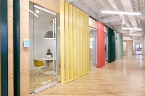 Văn phòng làm việc thiết kế theo kiểu container của văn phòng Shopify