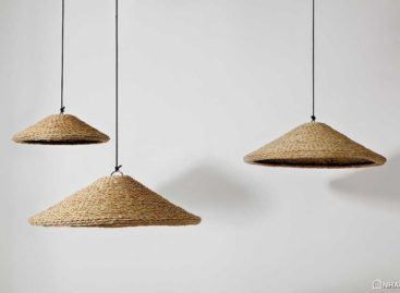 Thiết kế đèn treo bằng sợi gai