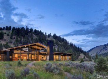 Vẻ hiện đại của ngôi nhà River Bank ở Montana
