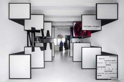 Cửa hàng bán lẻ của tạp chí Frame ở Amsterdam kết hợp các hiệu ứng thị giác 2D và 3D