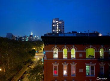 Mang sự tươi mới cho căn hộ nhìn ra công viên Sarah Roosevelt ở New York