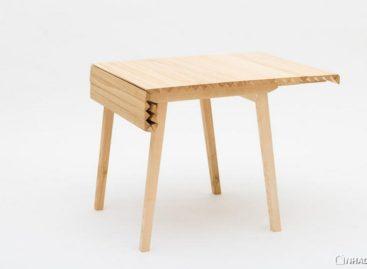 Tiết kiệm không gian với chiếc bàn xếp Wooden Cloth tiện dụng