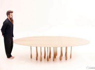 Lạ mắt với chiếc bàn có chân hình giọt nước