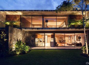 Căn nhà một tầng với sân vườn đáng mơ ước ở Mexico City