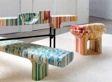 Bộ sưu tập nội thất đồ gỗ Endgrain đa sắc màu