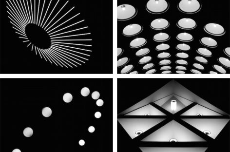 Hệ thống đèn điện ở ga tàu điện ngầm Metro ở Moscow