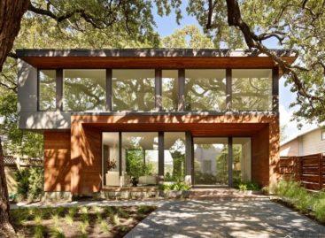 Ngắm nhìn ngôi nhà gỗ hiện đại trên đồi ở Austin, Texas